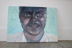 Pleasantries, 2014, Acrylic on Canvas, Palette Knife,  60x40cm