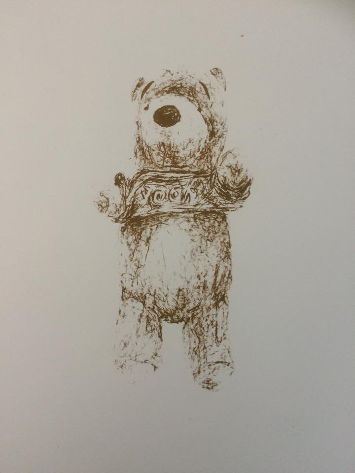 'Pooh', 2015, Screenprint, Edition of 3, 29x42cm