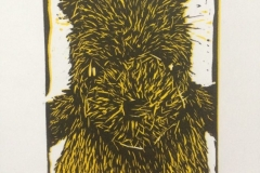 A Bear's Story 2, 2015, Linocut, Varied Edition of 20, 10x15cm (Print 5.5x7cm). Sold 16 of 20.