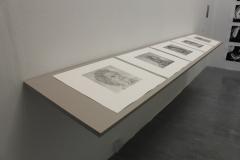 Quiet Exchanges Series, 2018, 5 prints, Etchings, 3m shelf. University of Brighton Graduate Show 2018.