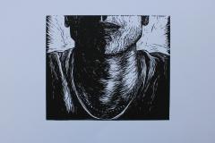 Content, 2017, Linocut, 25x23cm