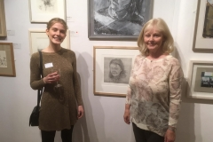 New English Art Club Annual Exhibition 2019, Mall Galleries, London (artist and subject of portrait)