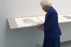 Reverie (subject of portrait alongside the artwork)