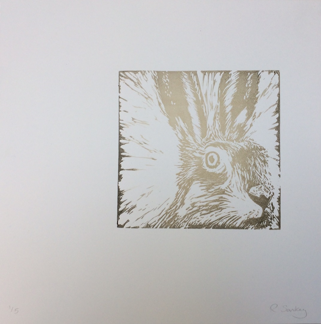 Captive Stare, 2016, Linocut, Edition of 5, 30x30cm